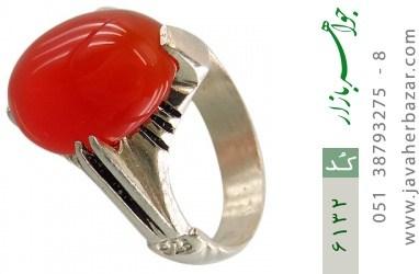 انگشتر عقیق سرخ خوش رنگ رکاب چهارچنگ - کد 6132