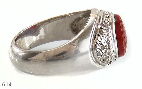 انگشتر الماس و عقیق یمن لوکس حکاکی و من یتق الله استاد احمد رکاب دست ساز - عکس 3