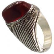 انگشتر نقره یاقوت سنتاتیک حرز 14 معصوم مردانه