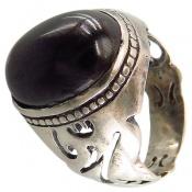 انگشتر نقره درشت رکاب طرح یا محمد مردانه