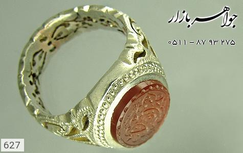 انگشتر عقیق لوکس حکاکی یا علی بن ابیطالب استاد عبد رکاب دست ساز - تصویر 2