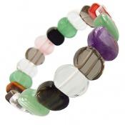 دستبند چندنگین سنگ درمانی زیبا زنانه