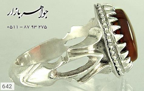 انگشتر عقیق هنر دست استاد الخاتم - تصویر 2