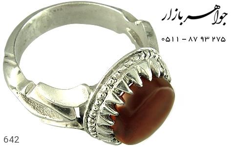 انگشتر عقیق هنر دست استاد الخاتم - عکس 3