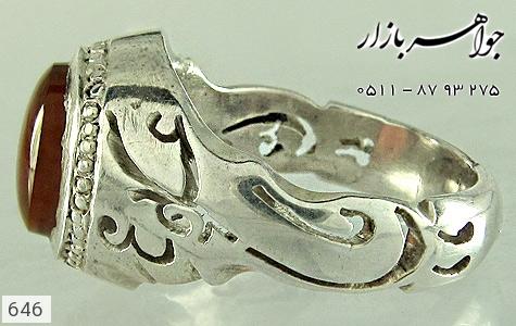 انگشتر عقیق یا علی یا محمد مردانه - عکس 1
