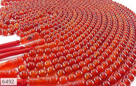 تسبیح عقیق قرمز 101 دانه درشت - تصویر 6