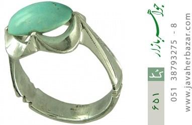 انگشتر فیروزه نیشابوری رکاب دست ساز - کد 651