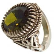 انگشتر نقره سلطنتی خوش رنگ مردانه