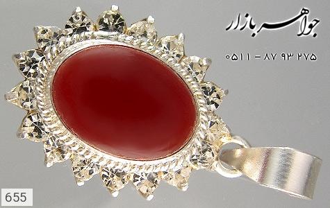 مدال عقیق قرمز سنتی زنانه - تصویر 2
