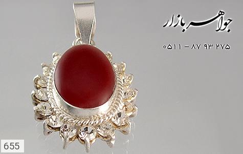 مدال عقیق قرمز سنتی زنانه - عکس 3