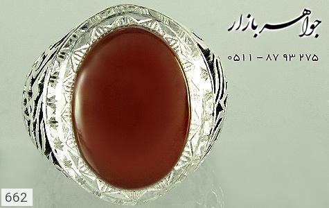 انگشتر عقیق قلم زنی یا اباالفضل العباس دست ساز - تصویر 2