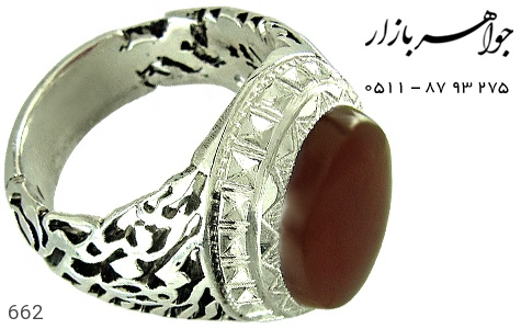 انگشتر عقیق قلم زنی یا اباالفضل العباس دست ساز - تصویر 4