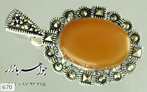 مدال عقیق و مارکازیت زنانه - تصویر 4