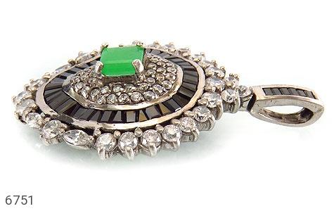 مدال نقره درشت طرح جواهری زنانه - تصویر 2