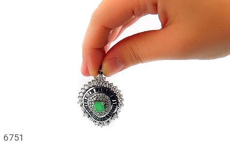 مدال نقره درشت طرح جواهری زنانه - عکس 5