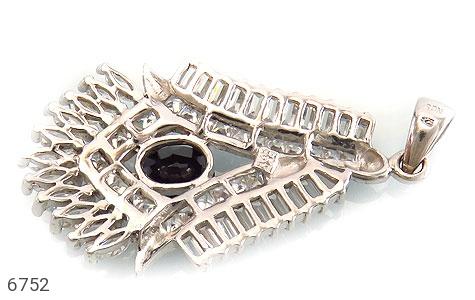 مدال نقره درشت طرح جواهری زنانه - عکس 3