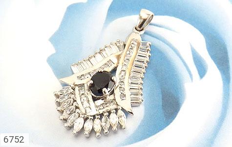مدال نقره درشت طرح جواهری زنانه - تصویر 4