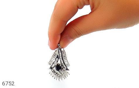 مدال نقره درشت طرح جواهری زنانه - تصویر 6