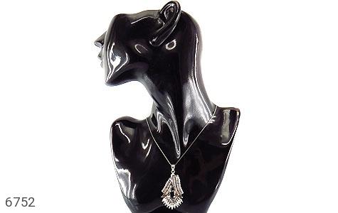 مدال نقره درشت طرح جواهری زنانه - عکس 7