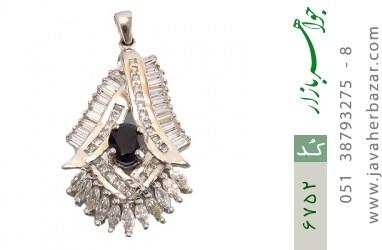 مدال نقره درشت طرح جواهری زنانه - کد 6752