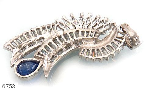 مدال نقره درشت طرح سلطنتی زنانه - عکس 3