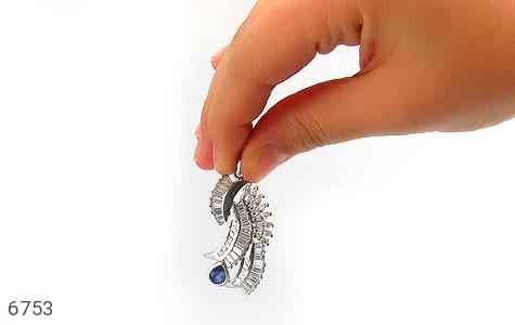 مدال نقره درشت طرح سلطنتی زنانه - عکس 7