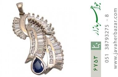 مدال نقره درشت طرح سلطنتی زنانه - کد 6753