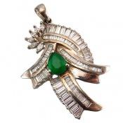 مدال نقره درشت طرح مجلسی زنانه