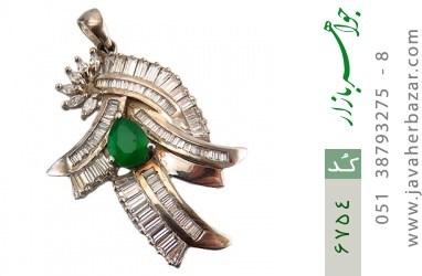 مدال نقره درشت طرح مجلسی زنانه - کد 6754