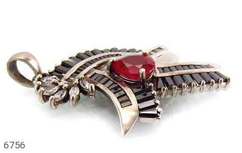 مدال نقره درشت طرح اشرافی زنانه - تصویر 2