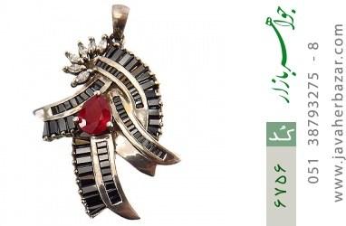 مدال نقره درشت طرح اشرافی زنانه - کد 6756