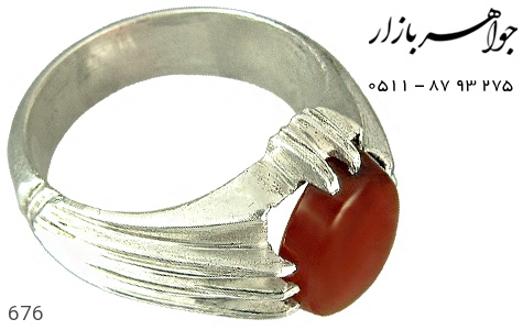 انگشتر عقیق یمن رکاب دست ساز - عکس 1