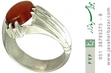 انگشتر عقیق یمن رکاب دست ساز - کد 676