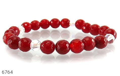 دستبند عقیق سرخ تراش زنانه - تصویر 2
