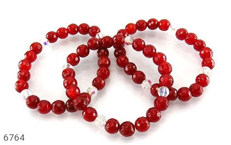 دستبند عقیق سرخ تراش زنانه - عکس 3
