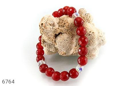 دستبند عقیق سرخ تراش زنانه - تصویر 4