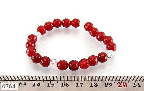 دستبند عقیق سرخ تراش زنانه - عکس 5