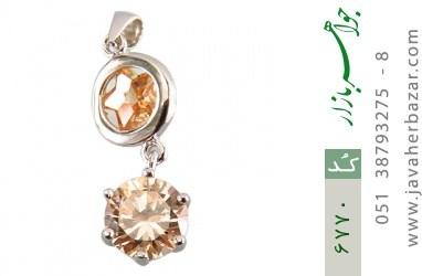 مدال نقره طرح ستاره زنانه - کد 6770