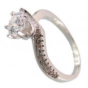 انگشتر نقره سولیتر پرنسسی زنانه