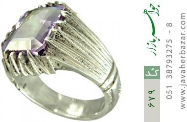 انگشتر آمتیست رکاب دست ساز - کد 679