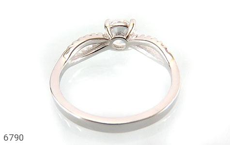 انگشتر نقره سولیتر الماس نشان زنانه - عکس 3