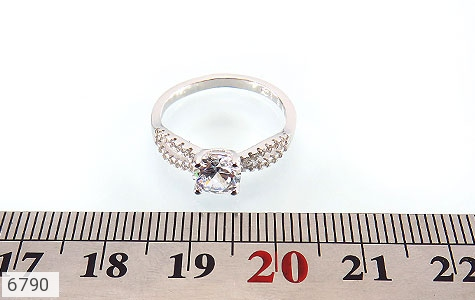 انگشتر نقره سولیتر الماس نشان زنانه - عکس 5