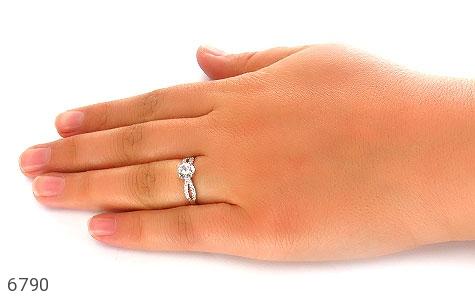 انگشتر نقره سولیتر الماس نشان زنانه - تصویر 6