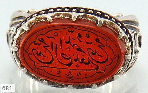 انگشتر عقیق یمن لوکس حکاکی صلوات استاد عبد هنر دست استاد رحمانی - تصویر 2