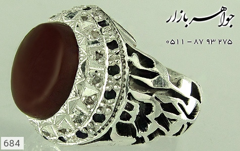 انگشتر عقیق قلم زنی علی ولی الله دست ساز - عکس 1