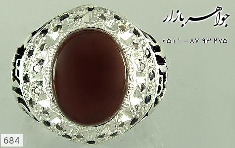 انگشتر عقیق قلم زنی علی ولی الله دست ساز - عکس 3