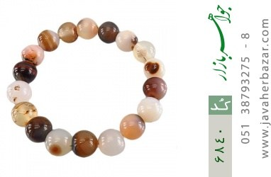 دستبند عقیق شجری درشت زنانه - کد 6840