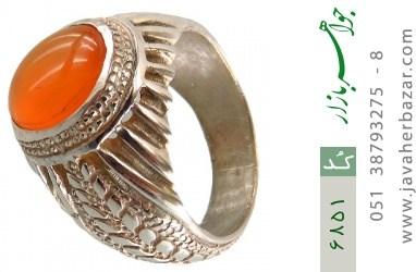 انگشتر عقیق یمن حکاکی شرف الشمس - کد 6851