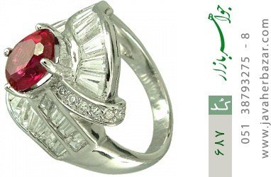 انگشتر نقره طرح مجلسی زنانه - کد 687