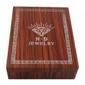 جعبه جواهر چوبی طرح الماس نشان